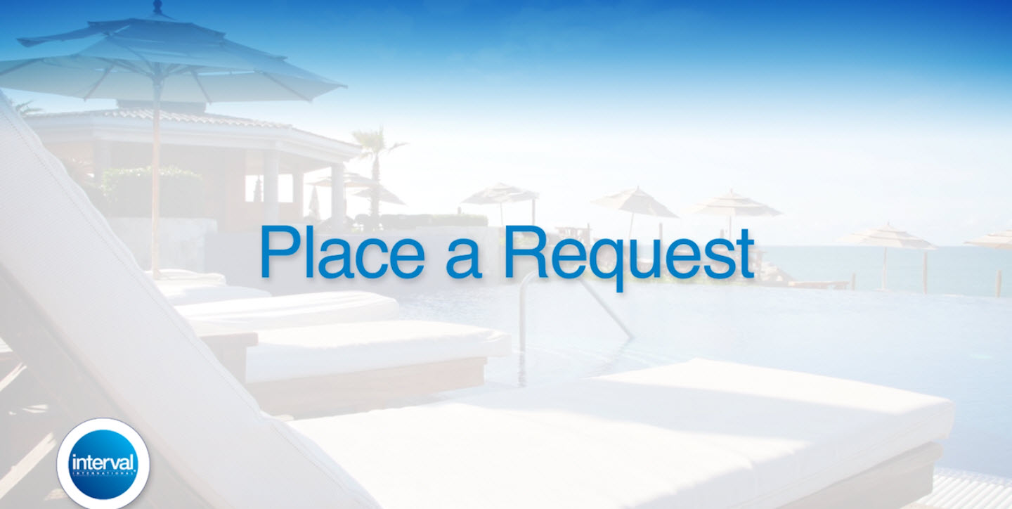 Interval Weeks - Place a Request