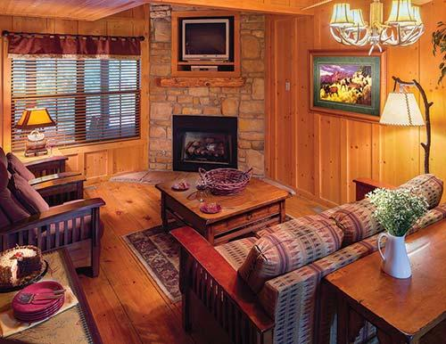 Genial Description; Amenities; Map; Weather. The Cabins At Green Mountain Features  ...